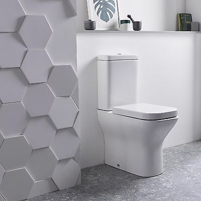 Tavistock Structure Fully Back-to-Wall Close Coupled Toilet WC Soft Close Seat