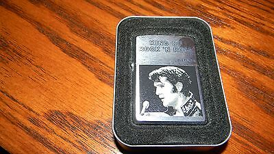 Zippo Lighter ~ Elvis King Of Rock 'n Roll ~ New In Tin~ Usa Made