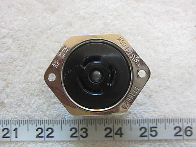 Hubbell HBL 7557 10A/250V 15A/125V Twist-Lock Flanged Receptacle Non-NEMA, New
