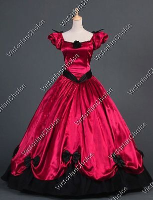 Victorian Southern Belle Vampire Gown Reenactment Theater Halloween Clothing 323