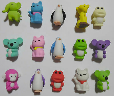 Novelty Animal's Eraser puzzle Rubber Students Stationery Pencil Eraser Toy Gift