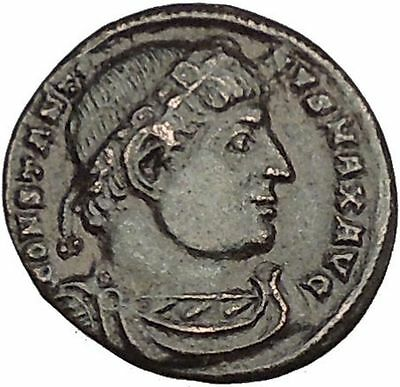Constantine I The Great 330AD Ancient Roman Coin Glory of Arny Legions i53049