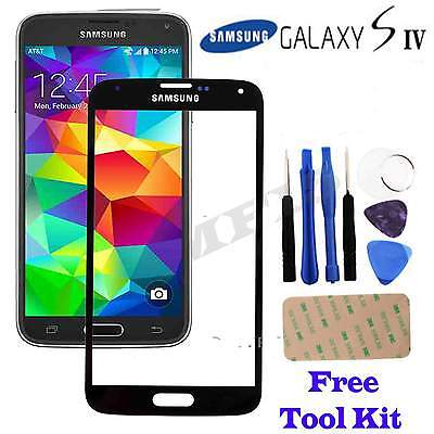 Genuine Glass Black Front Outer Screen Replacement For Samsung Galaxy S4 i9500
