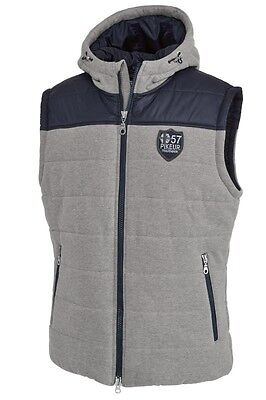 SALE Pikeur Ravel Hooded Padded Gilet Mens - Grey/Navy - Medium - BNWT