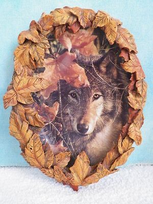 "Bradford Exchange Wolf Plate ""Eyes of Autumn"" 1st issue Collin Bogle"