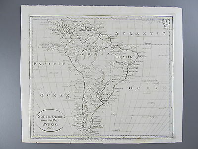 Original Engraved Map of South America, 1802