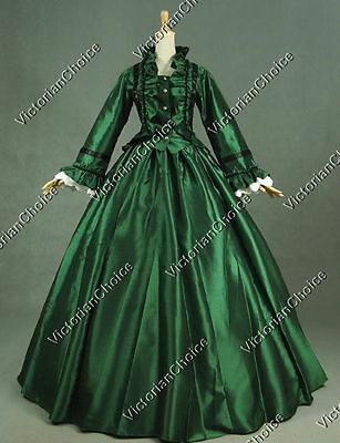 Civil War Victorian Queen Dress Theater Ghost Dark Witch Halloween Costume 170