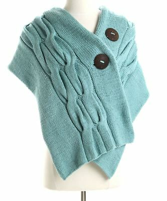 New Simone Layne Moby Wrap Hand Knit Green Cable Sweater Cotton Nursing Scarf