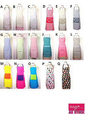 Plain Apron Cotton Washable Kitchen Cooking Butcher Craft Pockets ADV201