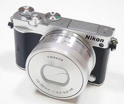 Nikon 1 J5 Mirrorless Digital Camera with 10-30mm Lens ( Silver ) -Fedex  to USA