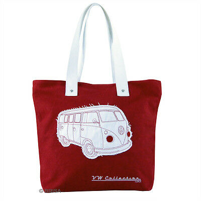 Bulli Official VW Campervan Collection Canvas Shopping Bag - Red FREE P&P