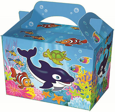 10 Sealife Party Boxes - Food Loot Lunch Cardboard Gift Kids