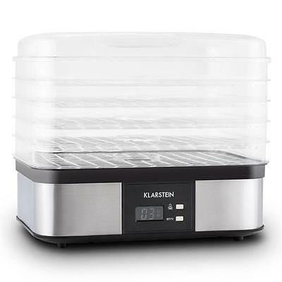Klarstein Valle Di Frutta 5-Tiered Food Dehydrator Stainless Steel 250W