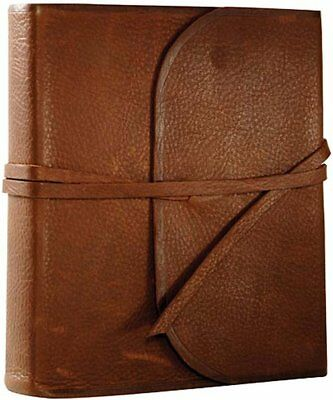 ESV 2-Column Journaling Bible, Natural Leather, Brown,  Flap With Strap