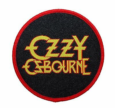 """Ozzy Osbourne"" Rock Band Logo Heavy Metal Merchandise Sew On Applique Patch"