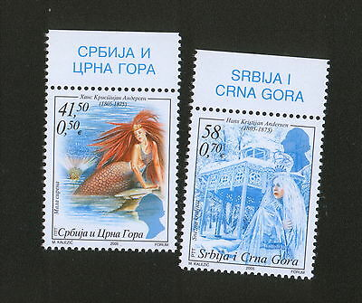 Serbia And Montenegro-Mnh** Set-200 Years From The Birth Of H.c. Andersen -2005.