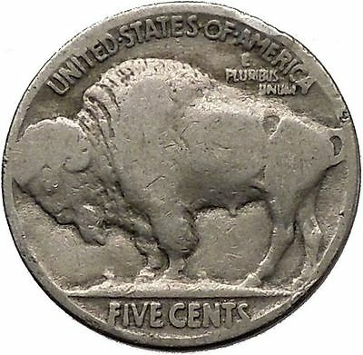 1935 BUFFALO NICKEL 5 Cents of United States of America USA Antique Coin i43778
