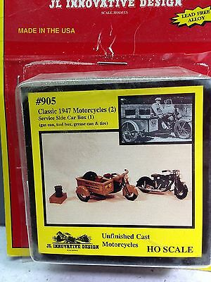 HO 1/87 JL Innovative Design # 905 - 1947 Motorcycle Kits (2 pcs.) w/side car