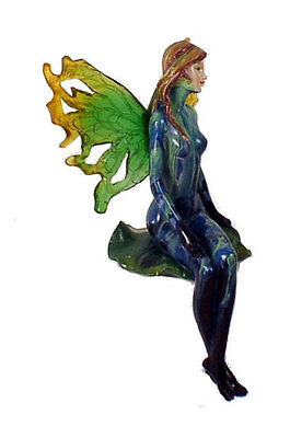 """Wholesale Case Lot of 36 Sitting Blue Large 9"""" Tall Fairy Figurine Winged"""