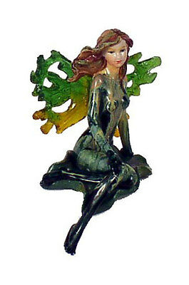"Wholesale Case Lot of 24 Sitting Green 9"" Tall Fairy Figurine Winged"