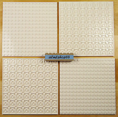 "LEGO - 16x16 Dots (5""x5"") White Baseplate - 91405 Thick Base Plate Flat Town Lot"