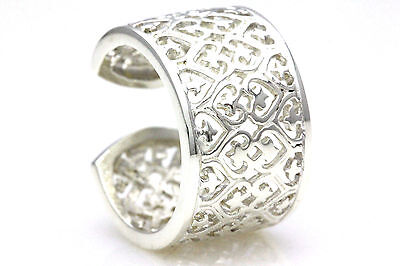 Large Genuine Authentic Sterling Silver Ring Filigree Design Ring Size 6 7 8 & 9