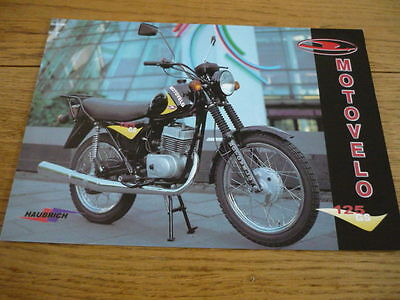 MOTOVELO 125 GS MOTORCYCLE BROCHURE  jm