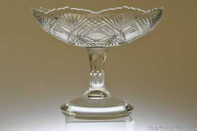 "c. 1894 TACOMA by Greenburg / McKee Bros. CLEAR 10"" W Open Compote"