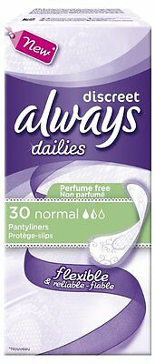 Protège-Slip Flexible Always Dailies Discreet Normal (x30)