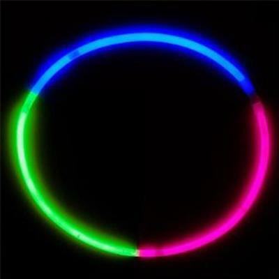 200 GLOW TRI-COLOR 24 INCH NECKLACES glowing in the dark light up glowstick new