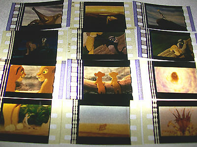 LION KING Film Cell Lot of 12 - animation collectible compliments dvd poster