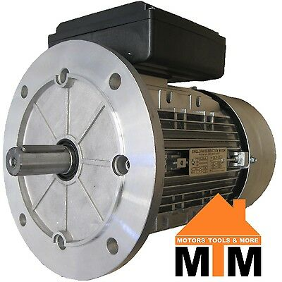 Single Phase Electric Motor 240v 1.5 kW 2 HP 1400rpm 4 Pole IMB5 B5 Flange