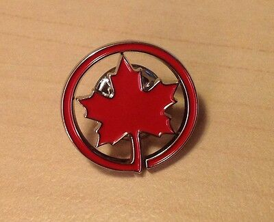 Air Canada Maple Leaf Metal Rondel Lapel Pin - NEW