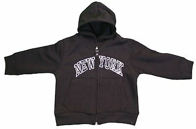 New York City Infant Baby Zippered Hoodie Sweatshirt Black