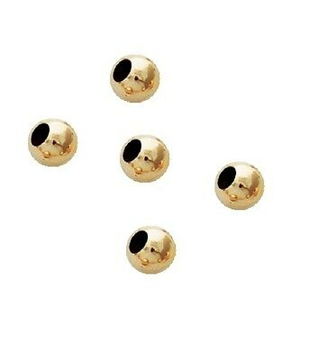 14 K Gold Filled 3 MM Round Seamless Bright Beads Pkg.Of 100 (LARGE HOLE) 2103LF