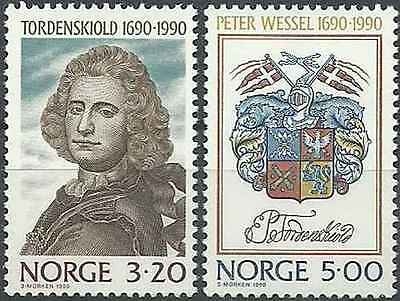 Timbres Personnages Blasons Norvège 1003/4 ** lot 8239