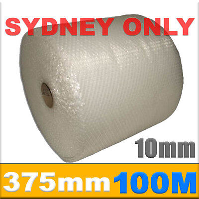 SYDNEY ONLY! 375mm x 100M Meter Bubble Wrap Roll 10mm Bubblewrap Perforated