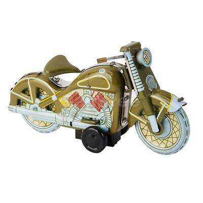Retro Wind Up Metal Motorcycle Motor Bike Tin Toy Vintage Collectible/Gift