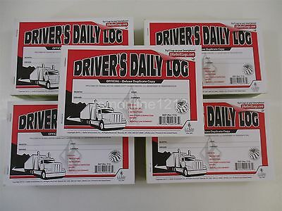 Lot of 100 JJ Keller 8527 (601L) Duplicate Driver's Daily Log Books with Carbon
