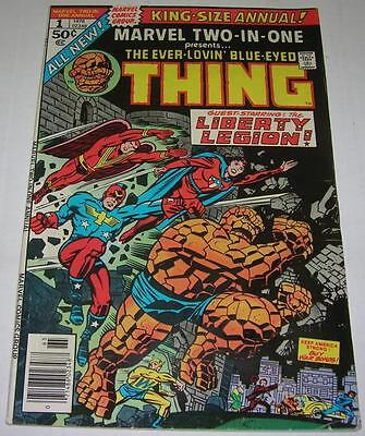 MARVEL TWO-IN-ONE ANNUAL #1 (1976) LIBERTY LEGION (FN+) Jack Kirby cover