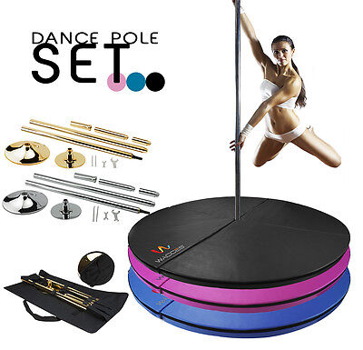 Portable Fitness Exercise Professional Dance Spinning Pole 45mm Set or Mat / Bag