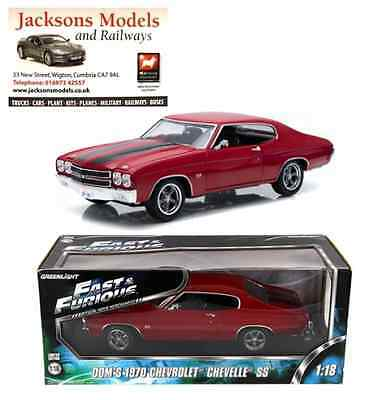 Greenlight 12945 1970 Chevrolet Chevelle SS Red Fast & Furious IV 1:18 Scale
