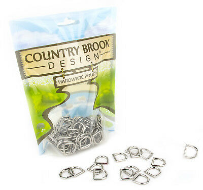 Country Brook Design® 10 - 1/2 Inch Die Cast Square Bottom D-Rings