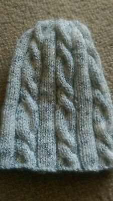 Child's  Grey Cable Beanie/hat  Older Boy/girl Brand New