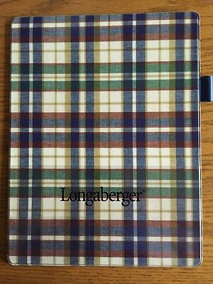 Longaberger Blue Green Yellow Floral Vinyl Laminated Lap Board Writing Board