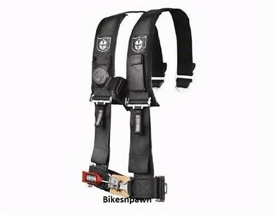 """New Pro Armor Black 4 Point Safety Harness Seat Belt RZR, Rhino 3"""" Pads A114230"""