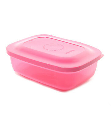 Brand New Tupperware Snack n Stack Rectangular Lunch Box - Pink