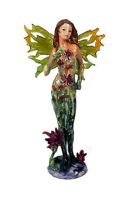 "Wholesale Case Lot of 16 Standing Green 12"" Tall Fairy Figurine Winged"