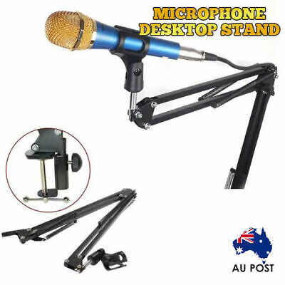 Pro Mic Microphone Suspension Boom Arm Desktop Holder Stand Mount for Broadcast