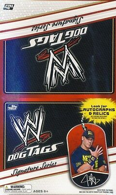 2013 Topps WWE Wrestling Signature Series Dog Tags 24ct Box
